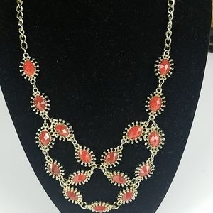 Fashion jewelry, Coral stone necklace